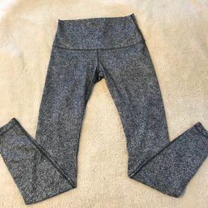 Lululemon High Rise Leggings Grey Speckle Size 10